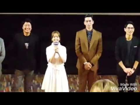 Han Ji Min greets Song Kang Ho's son at The VIP Premiere of movie 'The Age of Shadows'