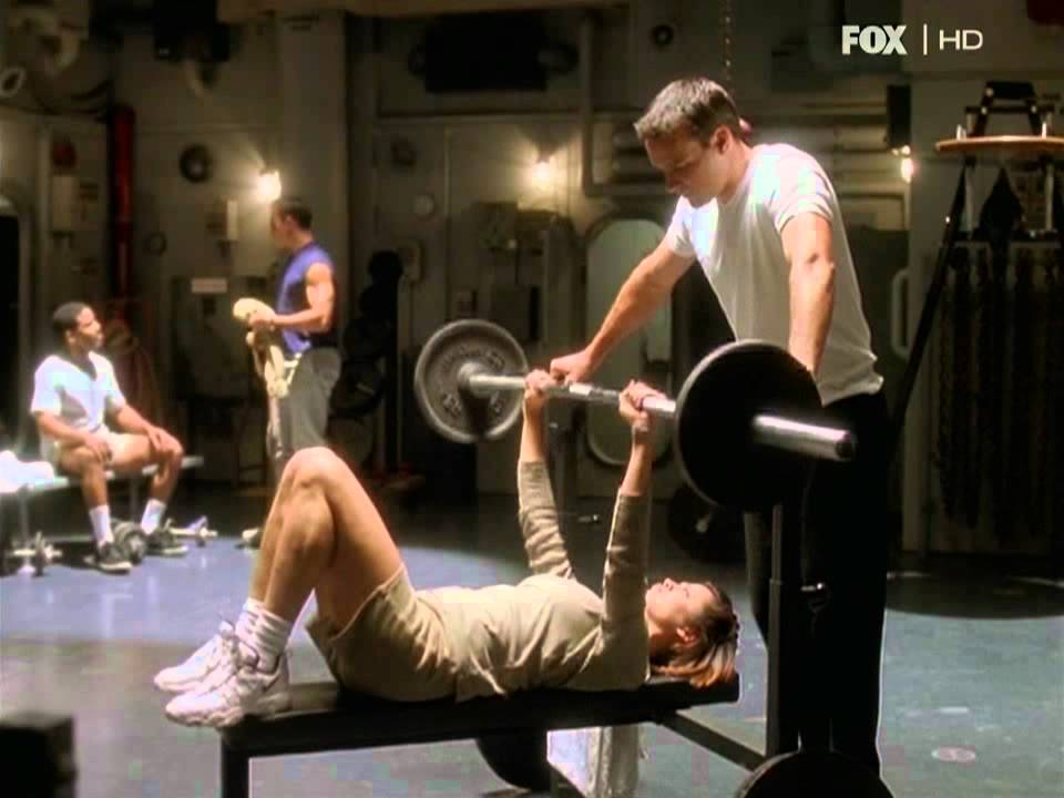 Catherine Bell Bench Pressing On Jag Youtube