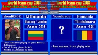 #42-1. Heroes 3. SoD. World Team Cup 2018. Dead0202 (Lithuania) vs Ycsulesu (Romania). 6lm10a