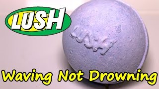 LUSH - Waving Not Drowning Bath Bomb - DEMO - Underwater View - Review UK Kitchen