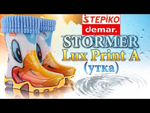 DEMAR Stormer Lux Print A (Утка). Видео обзор на резиновые сапоги Демар 0032A от #STEPIKO