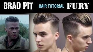 brad pitt hair tutorial from fury   men s hairstyles   dre drexler