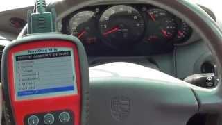 Resetting Porsche Airbag Dash light Autel MD702