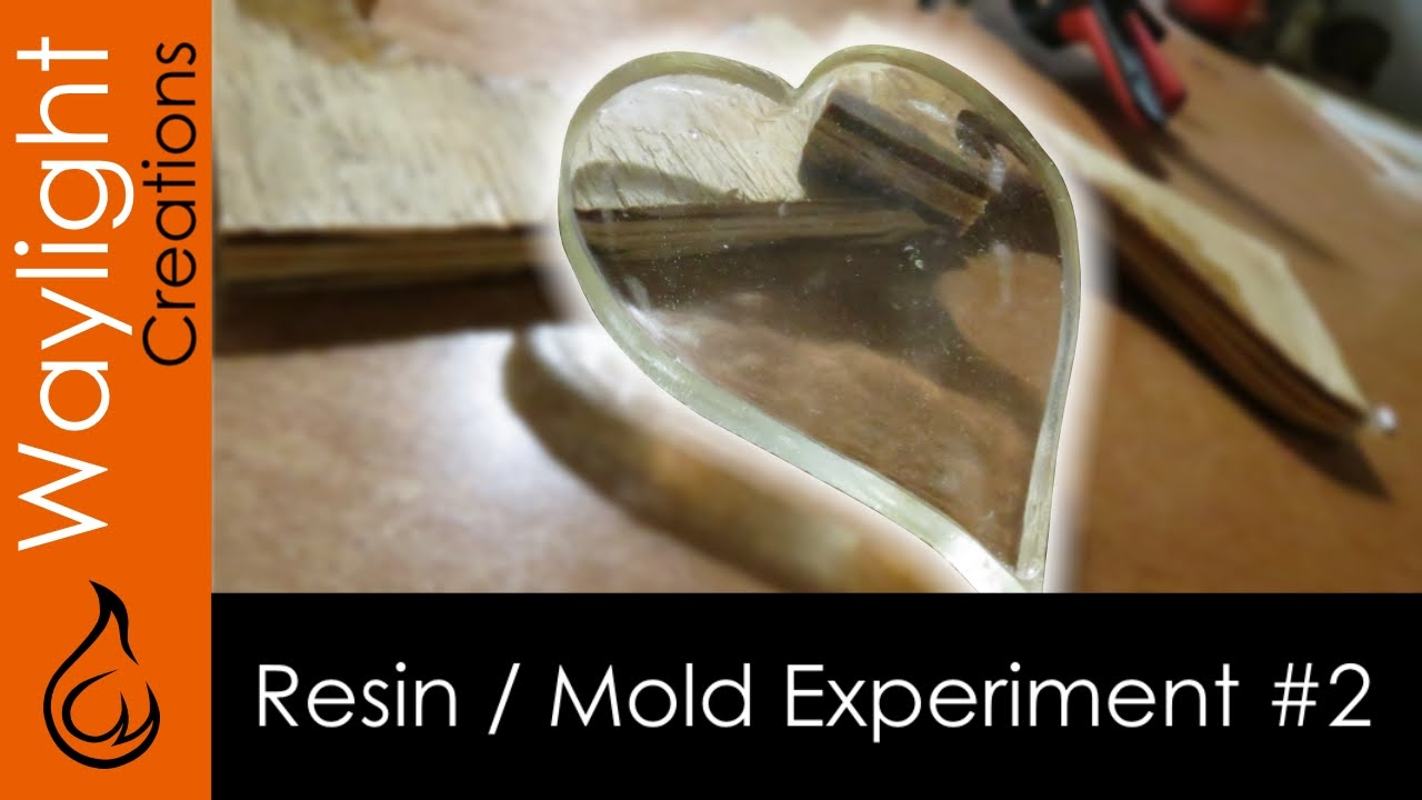 Epoxy Resin Heart Resin In Wood Experiment 2 Youtube