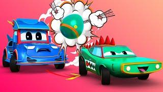 Cuộc đua tốc độ cao giữa Xe đua và Cá sấu - Thành phố xe - hoạt hình cho thiếu nhi