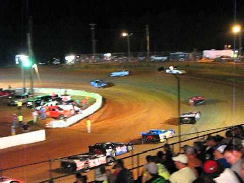 Crate Late Model Feature RS lap2 Cochran Motor Speedway 6Jul2013