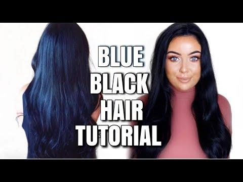Dying my hair Blue Black   Schwarzkopf Cosmic Blue *updated*