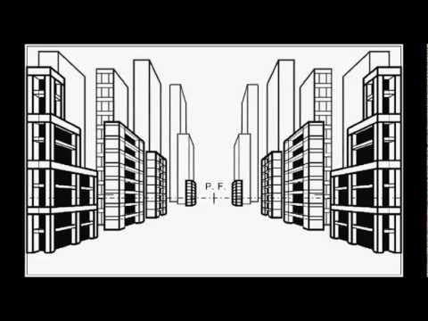 Edifici in prospettiva youtube for Disegni di case in prospettiva
