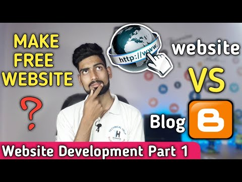 Website Vs Blog || How To Make Free Website With Out Hosting And Domain || Website Development #1
