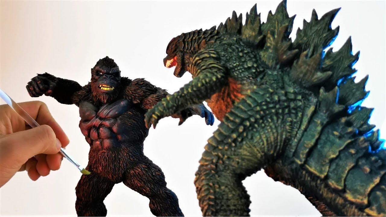 Mis mejores esculturas GODZILLA vs KONG Director's Cut. Making Godzilla vs Kong in Clay. DibujAme Un