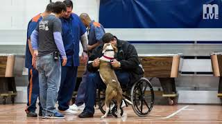 Prison inmates train rescue dogs to live with veterans