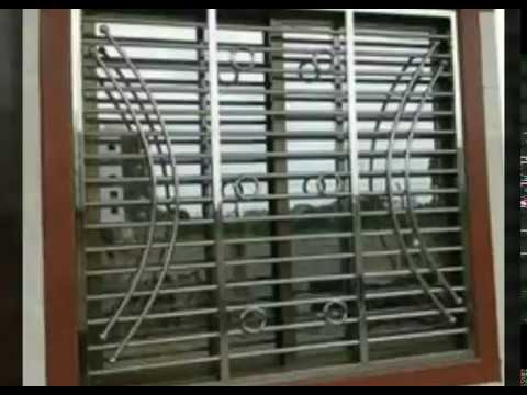 Safety Stainless Steel Window Grill Designspart 7 Youtube