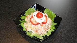 Салат из горбуши. Домашний майонез.