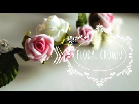 Fiori Youtube.Diy Floral Crown Coroncina Di Fiori Youtube