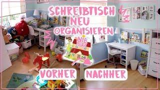 Schreibtisch NEU organisieren📚 • Chaos bewältigen im Kinderzimmer • Folge 4 • Maria Castielle
