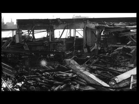 Hydrogen blasts wreck $2,00,000 Navy yard in Boston,Massachusetts HD Stock Footage