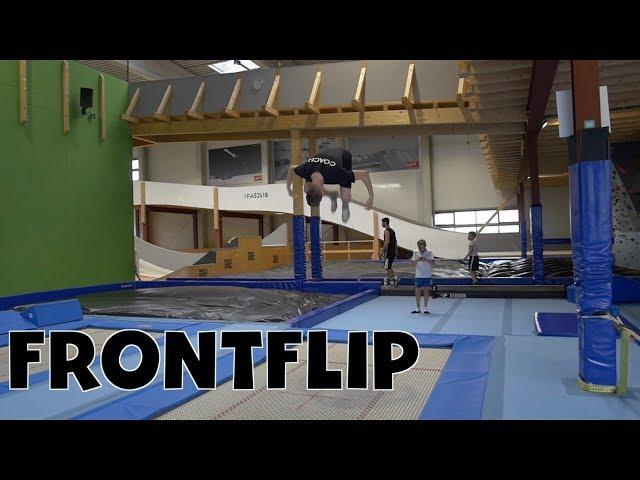 Trampolin Tutorial - FRONTFLIP // Freestyle Academy Stuttgart