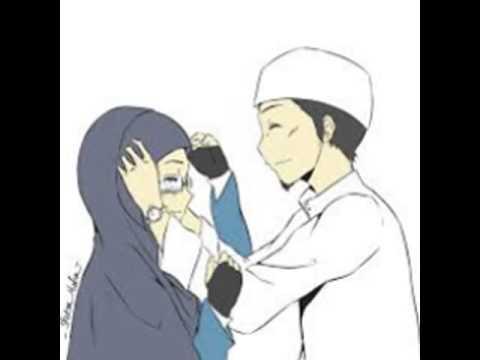 Sketsa Anime Muslim Couple