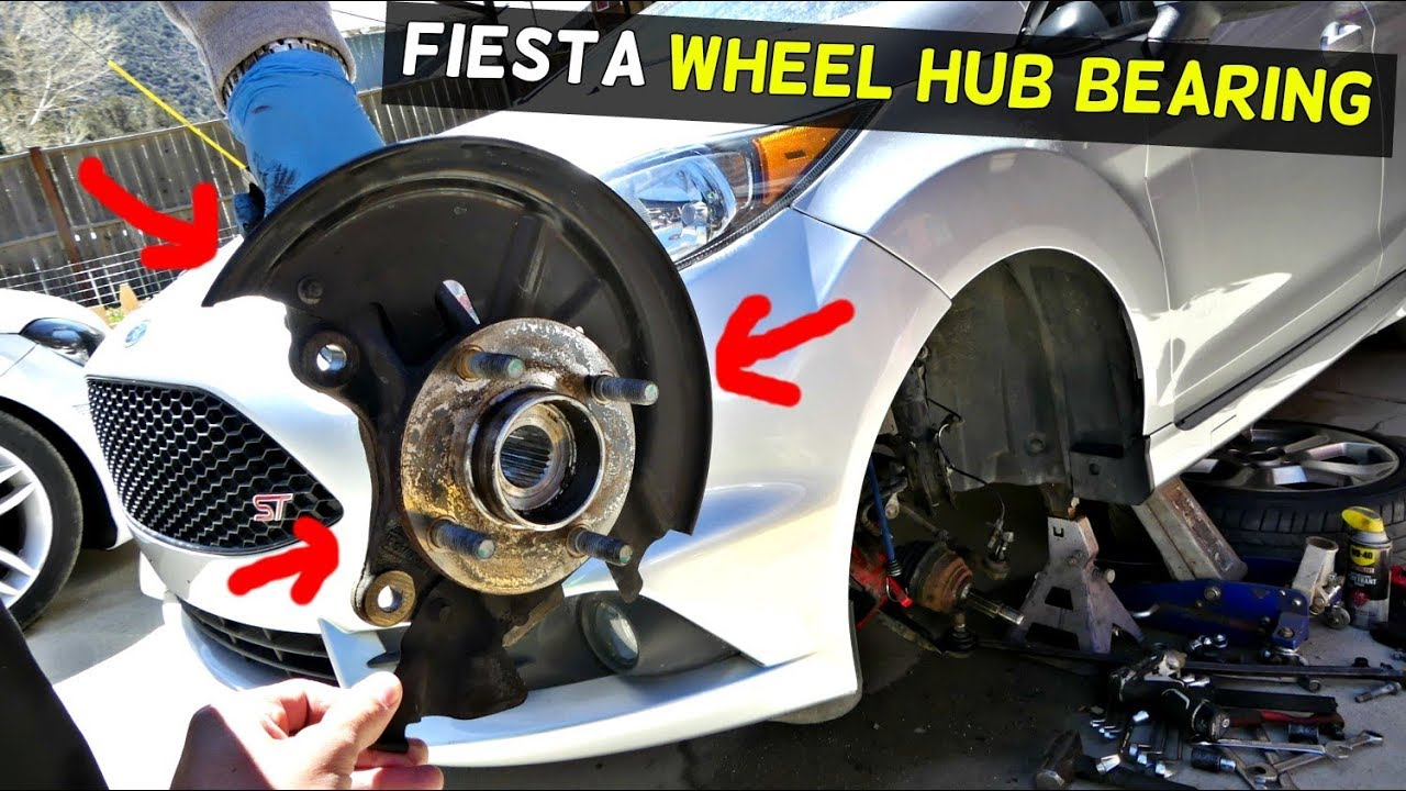 Ford Fiesta Front Wheel Hub Bearing Replacement Removal Mk7 St