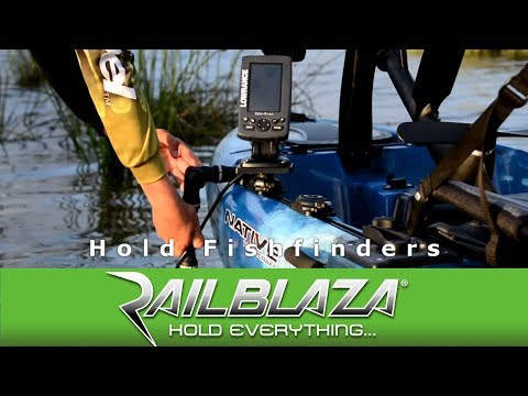How to fit a Fishfinder to a kayak or canoe with the Kayak & Canoe Sounder & Transducer Mount