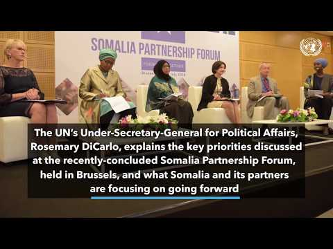 UN top political official Rosemary DiCarlo speaks about the 2018 Somalia Partnership Forum