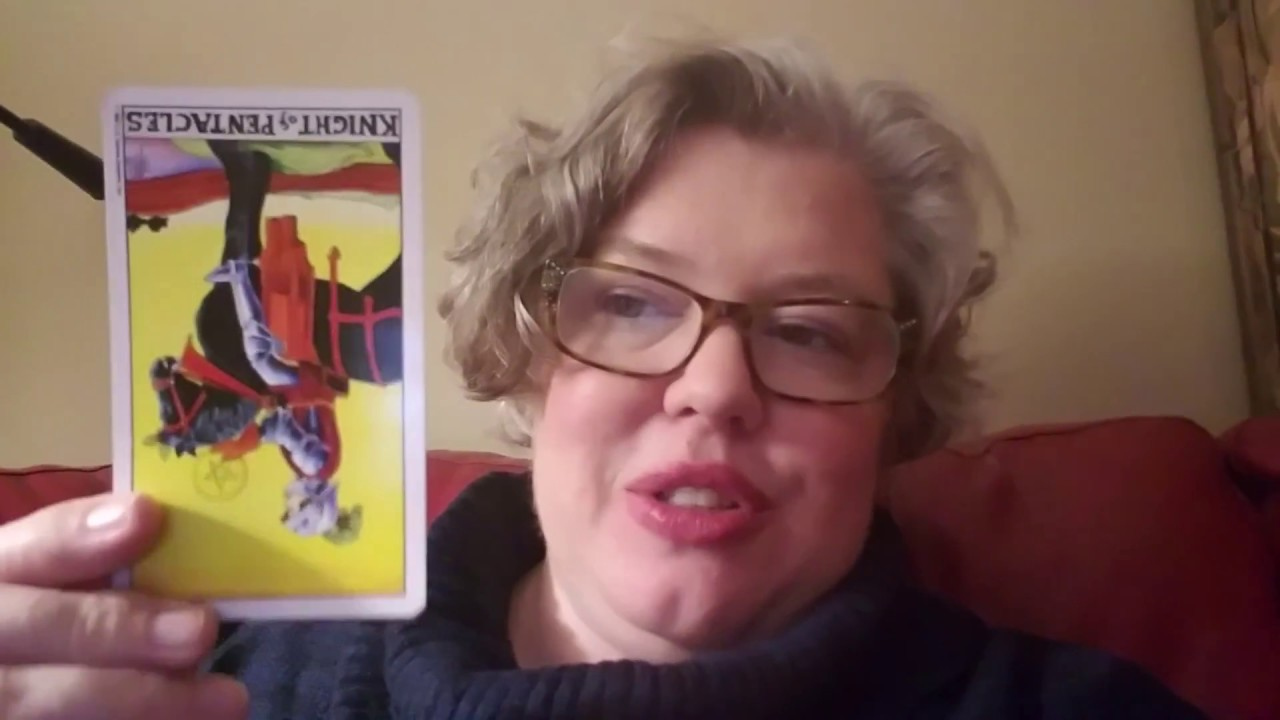 Thursday Card: Knight of Pentacles reversed
