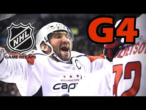Washington Capitals vs Columbus Blue Jackets. 2018 NHL Playoffs. Round 1. Game 4. 04.19.2018. (HD)