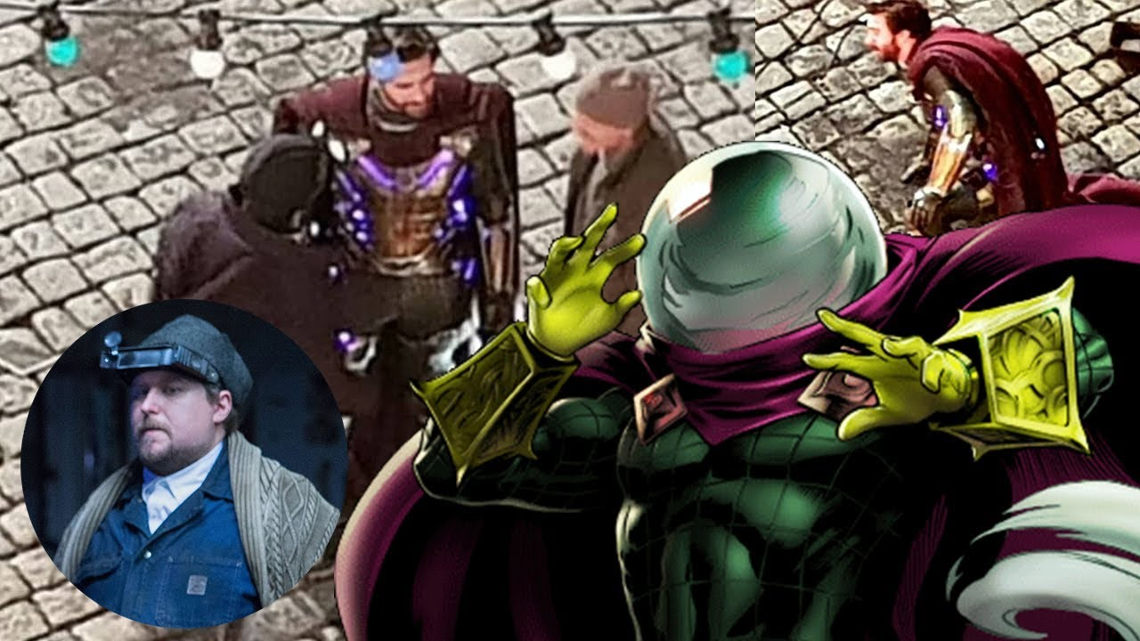 spider-man far from home mysterio first look leak - mysterio suit is