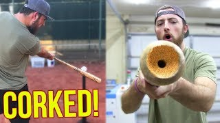 Does A Corked Baseball Bat Actually Work? IRL Baseball Challenge If...