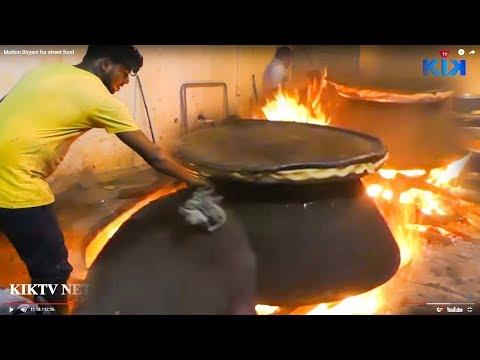 حيدر أباد لحم ضأن برياني | Hyderabadi Mutton Dum Biryani Making | Kiktv Steet Food