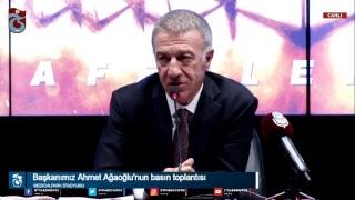 Başkanımız Ahmet Ağaoğlu'nun basın toplantısı