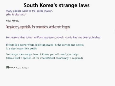 Strange regulations of South Korea (laws)