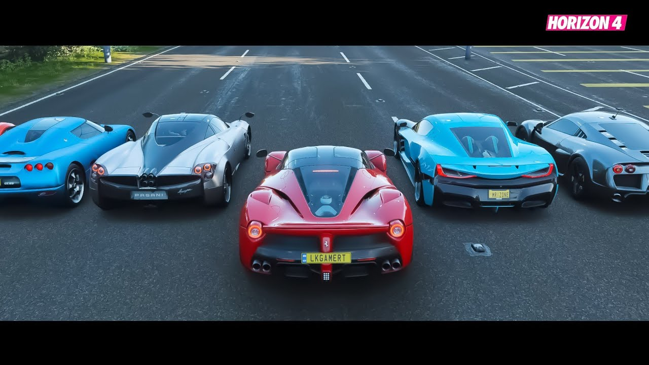 New Top 10 World's Most Fastest Supercars Drag Race   Forza Horizon 4 thumbnail