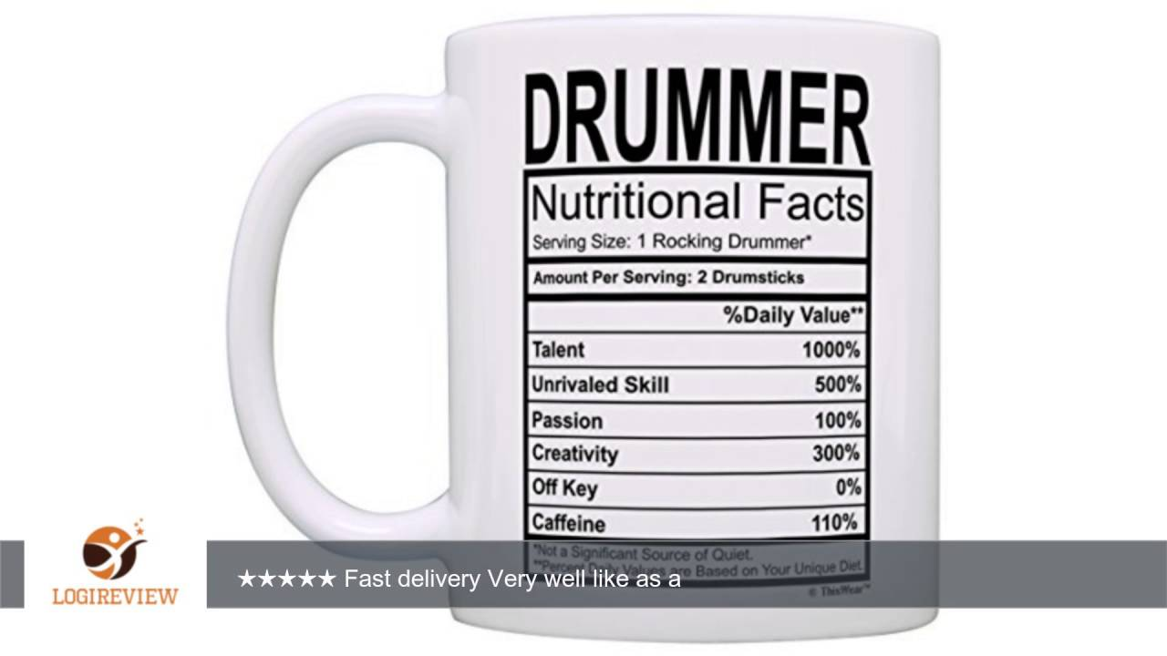 Drummer Gifts Drummer Nutritional Facts Label Percussion Drum Player Gift Coffee Mug Tea Cup White |