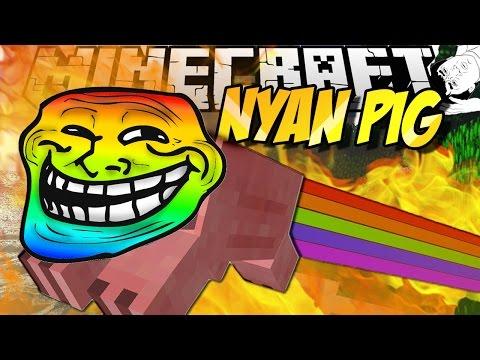 Minecraft mody! SZALONE ŚWINIE! | NYAN CAT MOD
