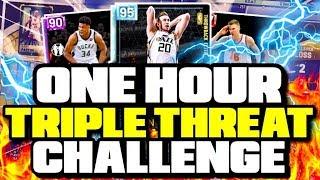 1 HOUR MT MAKING CHALLENGE IN NBA 2K19 MYTEAM TRIPLE THREAT ONLINE w/ BUDGET TEAM!