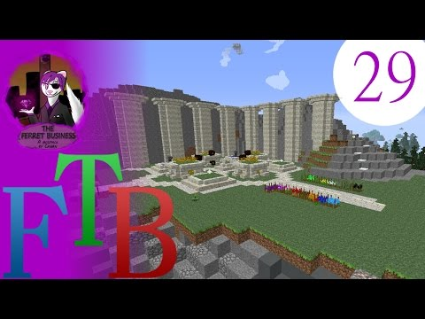 minecraft FTB: the ferret business - 29 - fighting a wither is easy