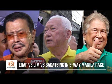 Baixar Erap vs Lim vs Bagatsing in 3-way Manila race