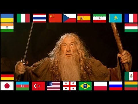 """""""YOU SHALL NOT PASS"""" In Different Languages"""