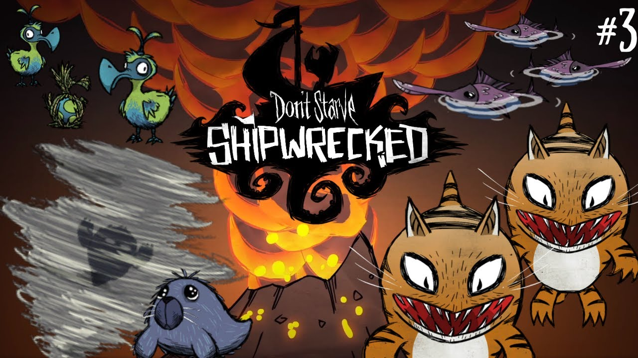 Shipwrecked Saturday - Chaos Beneath The Volcano - DOUBLE TIGER SHARKS! [Don't Starve Shipwrecked]