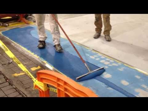 Pouring & Bulk Spreading with Squeegee