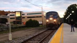Amtrak Vermonter and New England Central RR at Waterbury, VT and Essex Junction, VT - July 2014