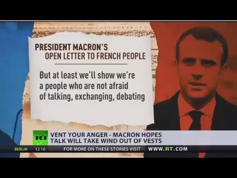 Vent Your Anger: Macron invites France to engage in national debate on Yellow Vests' concerns