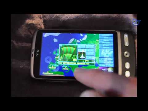 X-Com UFO Defence (Enemy Unknown) Running On Android (HTC Desire) - ADosBox