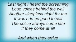 Tracy Chapman - Behind The Wall Lyrics