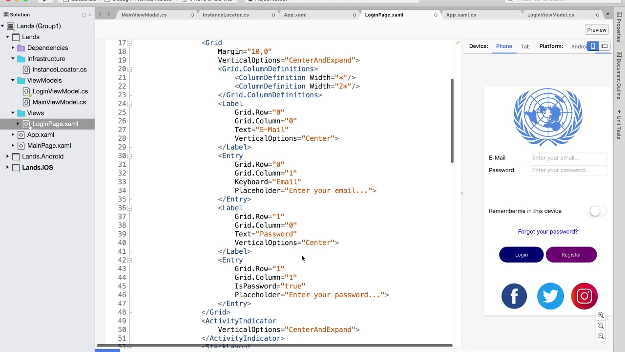 Xamarin 2018-I / Complete Course / Part 007 (Login View Model)