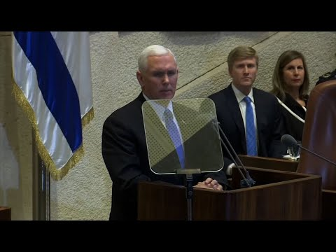 Scuffles as Arab Knesset Members Protest Pence