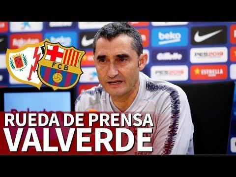 Rayo vs. Barcelona | Rueda de prensa previa de Valverde | Diario AS
