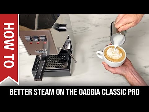 How To Get Better Steam Pressure On The Gaggia Classic Pro