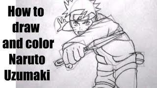 How to draw and color Naruto Shippuden (2000 Sub Special)- Competition With BankaiHollow12